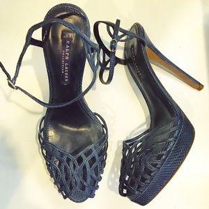 Ralph Lauren Purple Label Snakeskin Heels